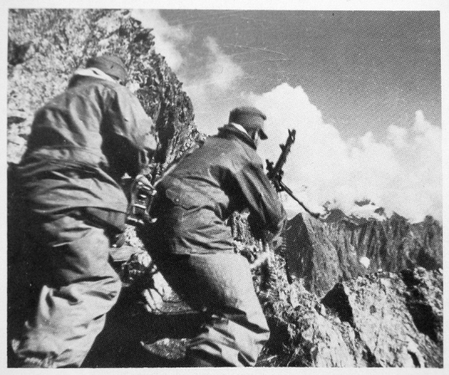 German mountain troops attack in the Caucasus in 1942