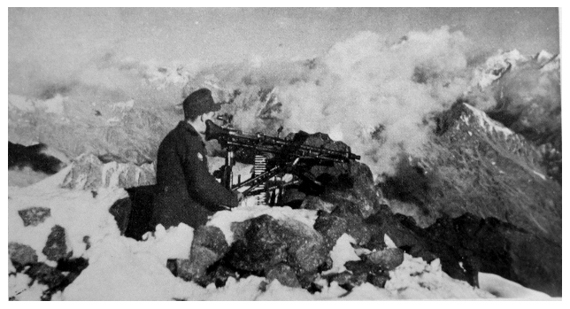 A German light machine-gun emplacement guarding a flank of Mt Elbruz in the Caucasus in 1942