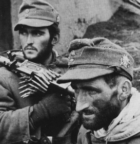 Documentary portrait of two German Gebirgsjägers