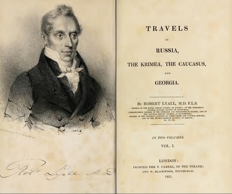 Robert Lyall, Travels in Russia, the Krimea, the Caucasus, and Georgia - 1825