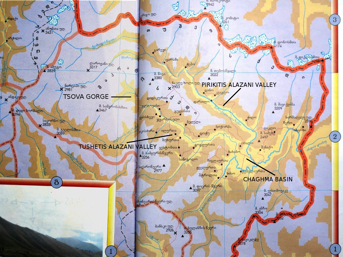 Map of Tusheti